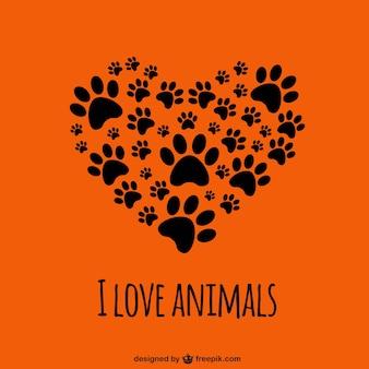 Kocham zwierzęta szablon