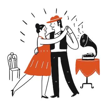 Kochankowie tańczą