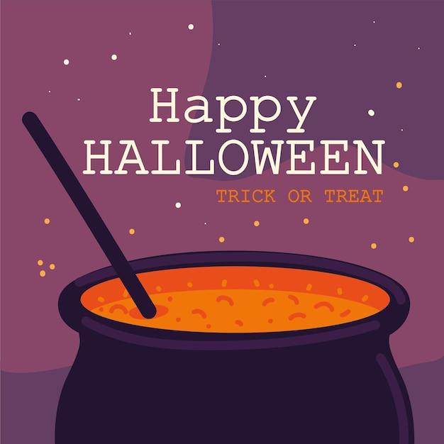 Kocioł czarownic na halloween