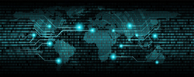 Kod binarny abstrakcyjne tło, kod komunikacji cyfrowej., tło technologii