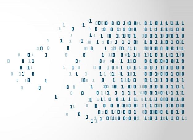 Kod binarny netwrok technologia koncepcja tło