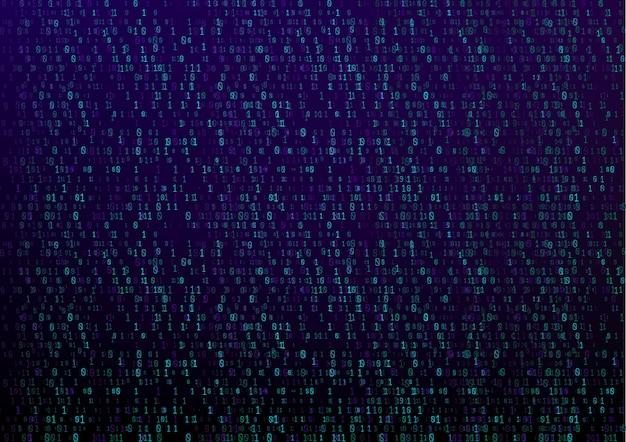 Kod binarny technologii cyfrowej tło