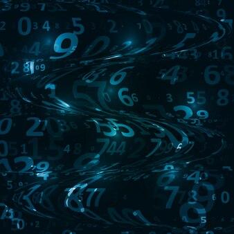 Kod cyfrowy w tle