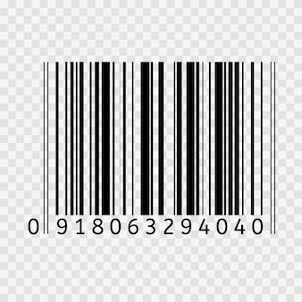 Kod kreskowy wektor płaska ikona kodu kreskowego znak symbol cienka linia