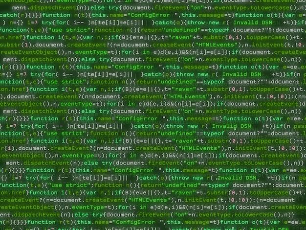 Kod programu mieniący się kolorowym bakcground.