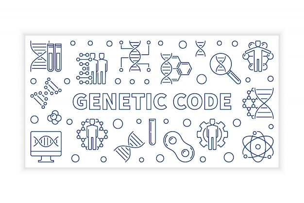 Kod transparent nowoczesny kod genetyczny ilustracja