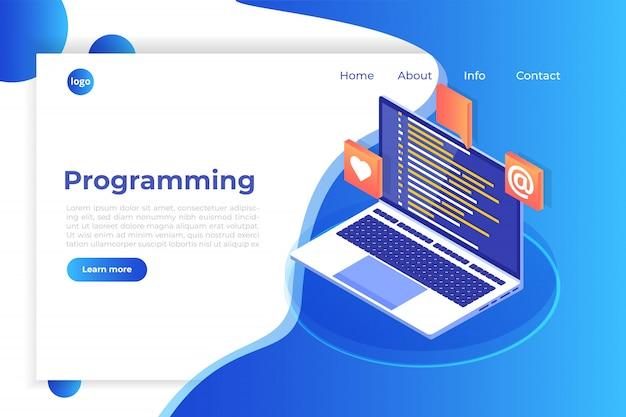 Kodowanie, tworzenie oprogramowania, programowanie koncepcji izometrycznej