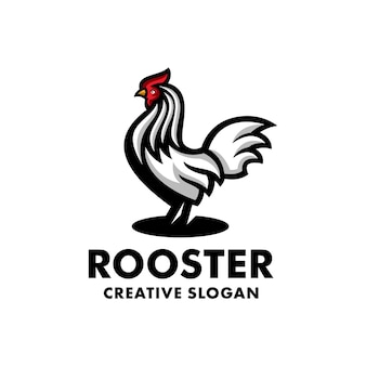 Kogut kurczak nowoczesna kreatywna ilustracja logo