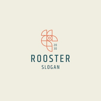 Kogut logo ikona projekt płaski szablon ilustracji wektorowych