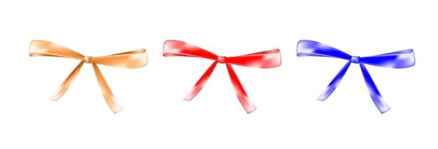 Kokarda kolor czerwony, złoty, niebieski na białym tle