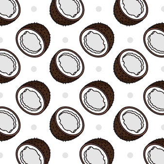 Kokosy biały wzór kolorowy design