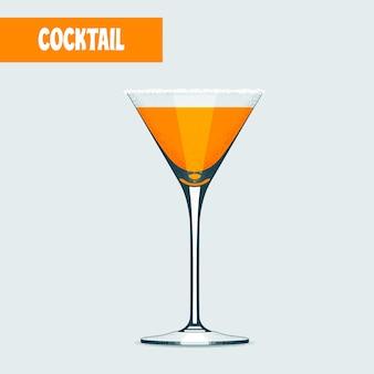 Koktajl martini w kolorze pomarańczowym.