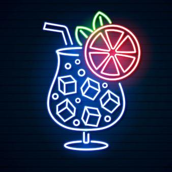 Koktajl neon znak