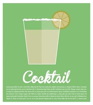 Koktajl tequila wapno plakat