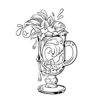 Koktajl wiśniowy.