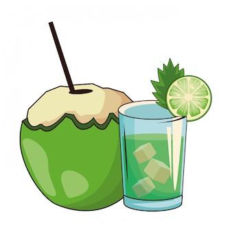 Koktajl ze szkła i orzecha kokosowego