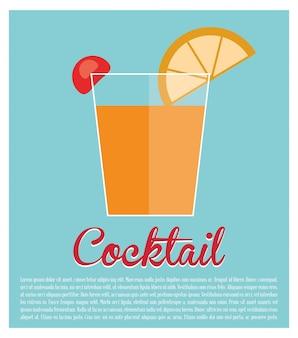 Koktajlu alkoholu wapna czereśniowy błękitny tło