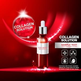 Kolagen i witamina dla koncepcji skóry