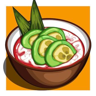 Kolak pisang ijo (kompot z zielonych bananów)