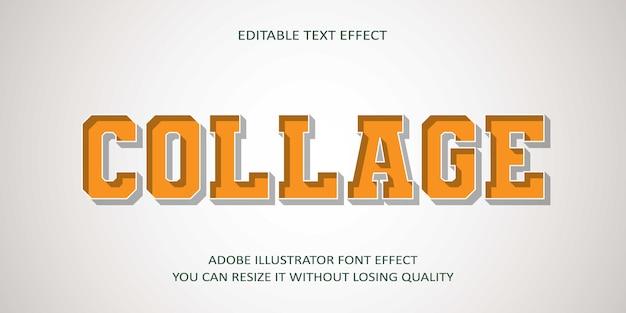 Kolaż edytowalny efekt tekstowy