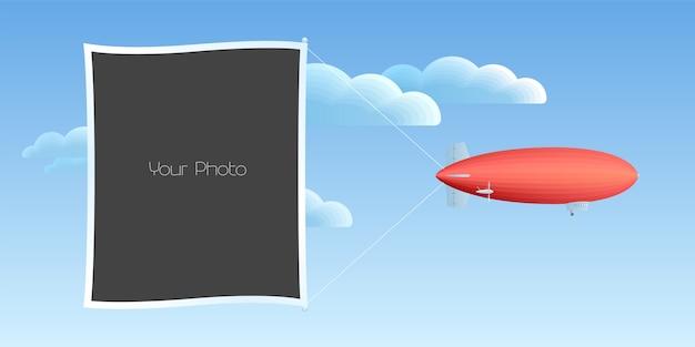 Kolaż ramki na zdjęcia, ilustracja notatnik