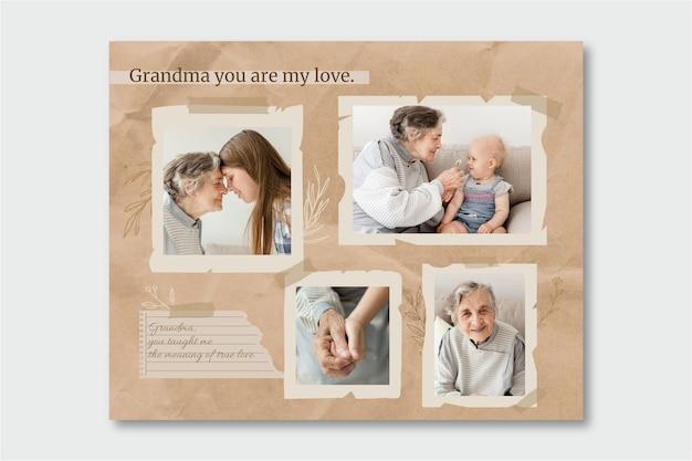 Kolaż zdjęć vintage dziadków
