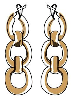 Kolczyki łańcuszkowe modne dodatki dla dziewczynek
