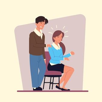 Koledzy zajmujący się molestowaniem w miejscu pracy