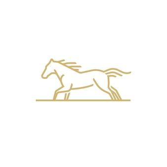 Kolejny wektor logo konia