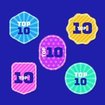 Kolekcja 10 najlepszych etykiet
