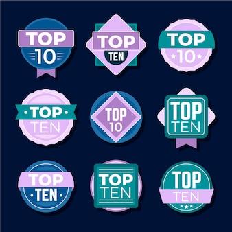 Kolekcja 10 najlepszych odznak