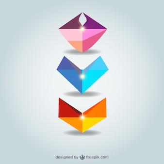 Kolekcja abstrakcyjne kształty darmo