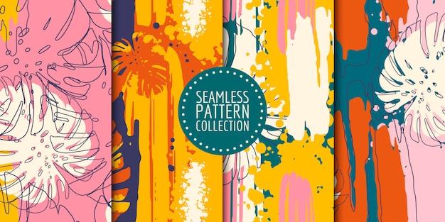 Kolekcja abstrakcyjne kształty wzór
