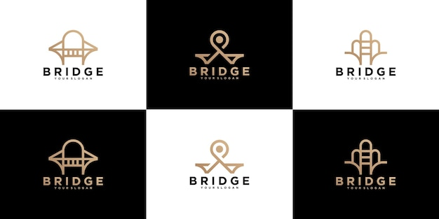 Kolekcja, abstrakcyjne logo budowania mostów