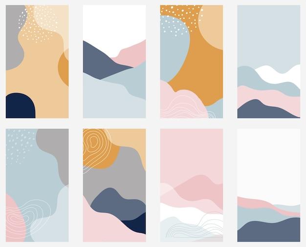 Kolekcja abstrakcyjne tło dla opowiadań na instagramie