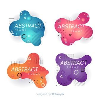 Kolekcja abstrakcyjnej ramki bejcy