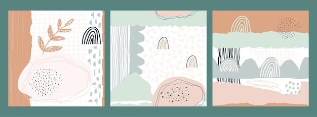 Kolekcja abstrakcyjny wzór bez szwu o różnych kształtach