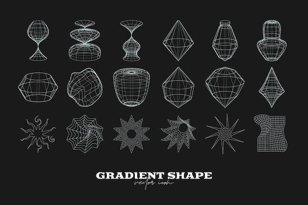 Kolekcja abstrakcyjnych geometrycznych kształtów ikon