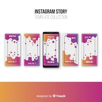 Kolekcja abstrakcyjnych historii instagramów