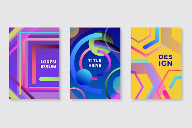 Kolekcja abstrakcyjnych kształtów gradientu obejmuje