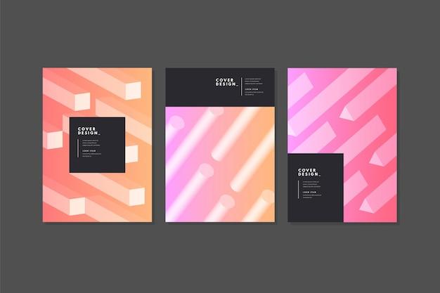 Kolekcja abstrakcyjnych okładek gradientowych
