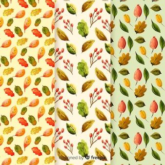 Kolekcja akwarela jesień wzór