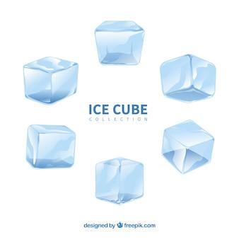 Kolekcja akwarela kostki lodu