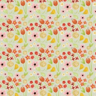 Kolekcja akwarela kwiatowy wzór