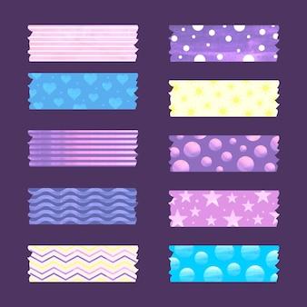 Kolekcja akwarela taśmy washi