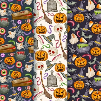 Kolekcja akwareli halloweenowych