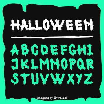 Kolekcja alfabet halloween
