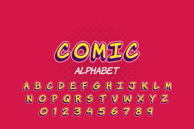 Kolekcja alfabetu w 3d komiks