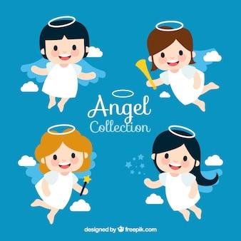 Kolekcja aniołów na świąteczne projekty