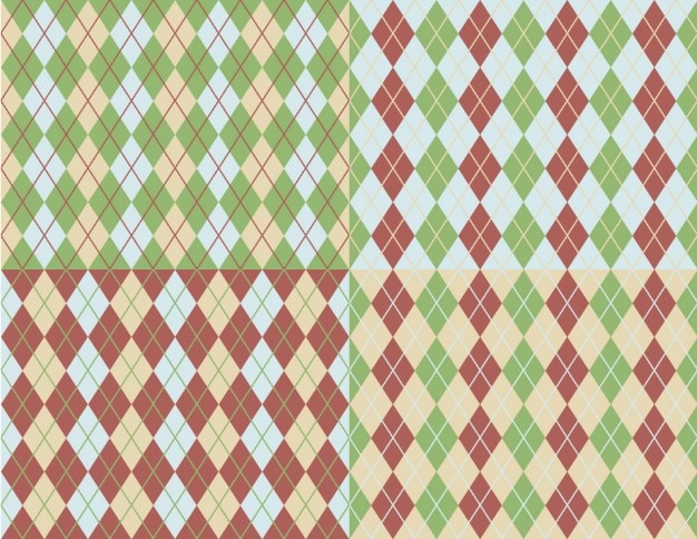 Kolekcja argyle wzory